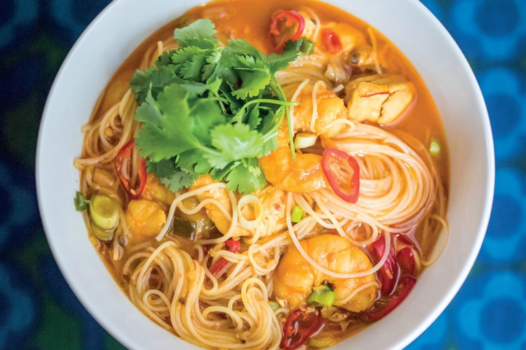 sea food laksa is a must try asiandish